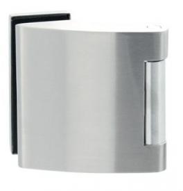 Vertikální pant na skleněné dveře SP - 10124 - BN - Broušená nerez