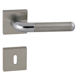 Handle TUPAI DACAPO - HRN 791Q - BN / OC / BN - Brushed stainless steel / polished chrome / brushed stainless steel