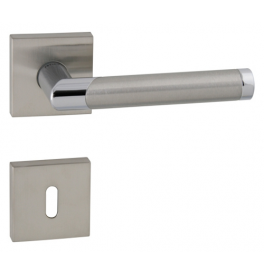DIAGO - HRN 793Q - BN / OC / BN - Brushed stainless steel / polished chrome / brushed stainless steel