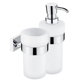 Cup for toothbrushs and Soap Dispenser NIMCO KEIRA KE 2205831W-26