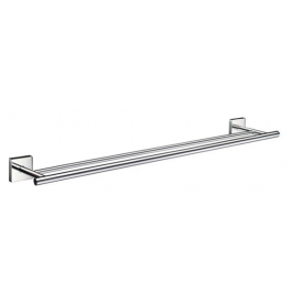 Towel rail double SMEDBO HOUSE - Polished chrome