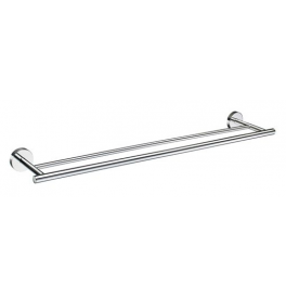 Towel rail double SMEDBO HOME - Polished chrome