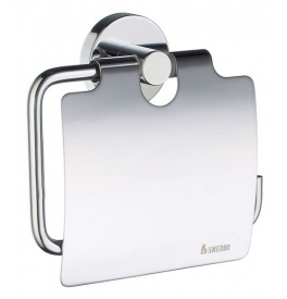 Toilet roll holder with lid SMEDBO HOME - Polished chrome