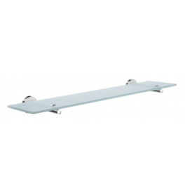 Glass shelf with brackets SMEDBO HOME - Polished chrome