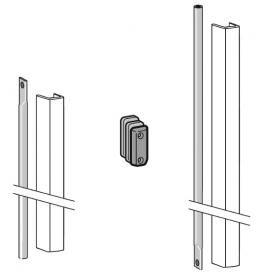 DORMA PHX 05 F - Connecting rod set with cover for door heights up to 3400 mm