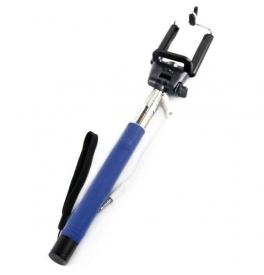 Selfie tyč s tlačidlom a pripojovacím káblom