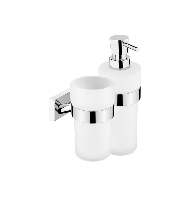 Cup for toothbrushs and Soap Dispenser NIMCO KEIRA KE 2205831W-T-26