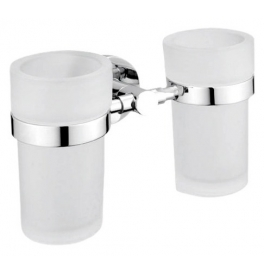 Holder with two cup for toothbrushs NIMCO UNIX UN 13058DW-26