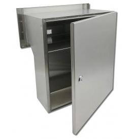 Fence-mounted mailbox X-FEST JAKUB 4 inox