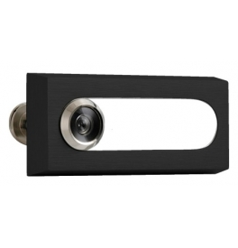 Door Viewer with label AXA - OMEGA 2 - F8 - Anodized black