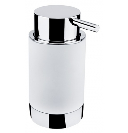 Soap Dispenser NIMCO LIO - Polished chrome / white