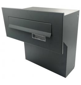 Fence-mounted mailbox X-FEST JAKUB 4 Anthracite