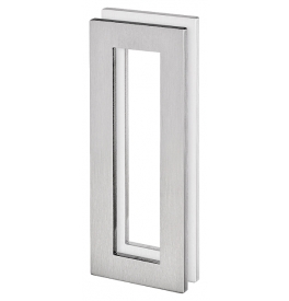 Shell for glass sliding door JNF IN.16.558.A - Brushed stainless steel