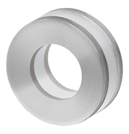 Shell for glass sliding door JNF IN.16.552.A - Brushed stainless steel