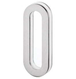 Shell for glass sliding door JNF IN.16.562.A - Brushed stainless steel