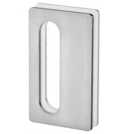 Shell for glass sliding door JNF IN.16.564.A - Brushed stainless steel