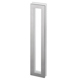 Shell for glass sliding door JNF IN.16.559.A - Brushed stainless steel