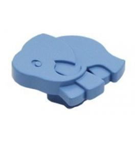 Plastová knopka Slon Modrá