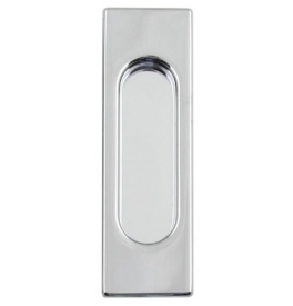 Square shell for sliding door FIMET - OC - Polished chrome